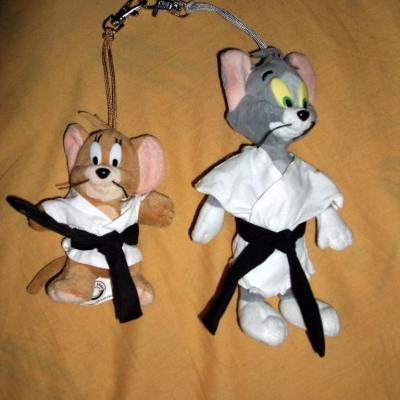 Peluche Tom & Jerry judokas