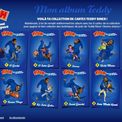 j'ai les 8 cartes Teddy Riner Pitch